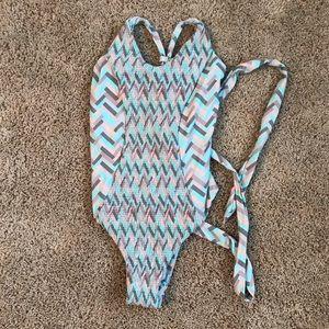 Tori Praver Seafoam One Piece Swimsuit